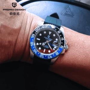 "Pagani Design PD-1662 GMT BLKBR ""Batman"""