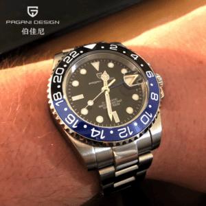"Pagani Design PD-1662 GMT BLKB ""Batman"""