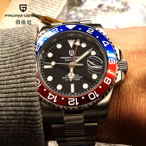 "Pagani Design Watch PD-1662 GMT BR ""Pepsi"""