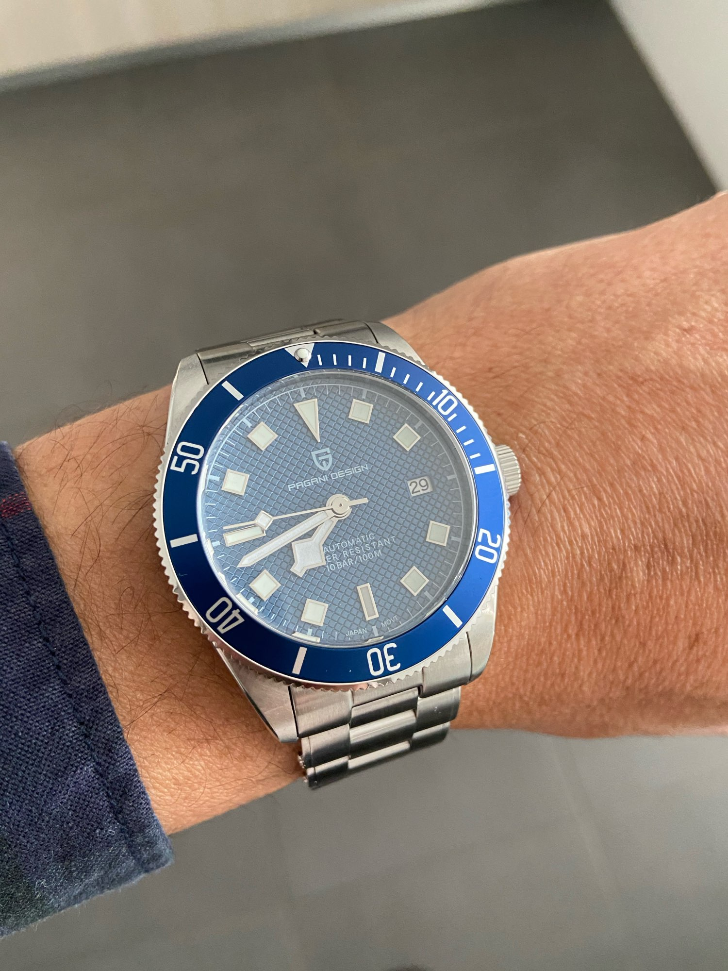 "Pagani Design PD-1671 Blue ""Black Bay"""